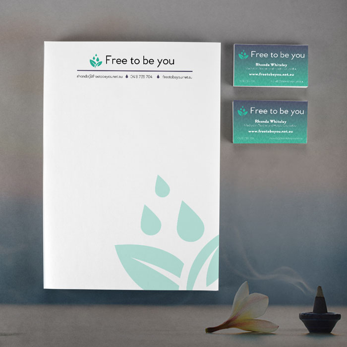 Free to be You Letterhead and Business Card