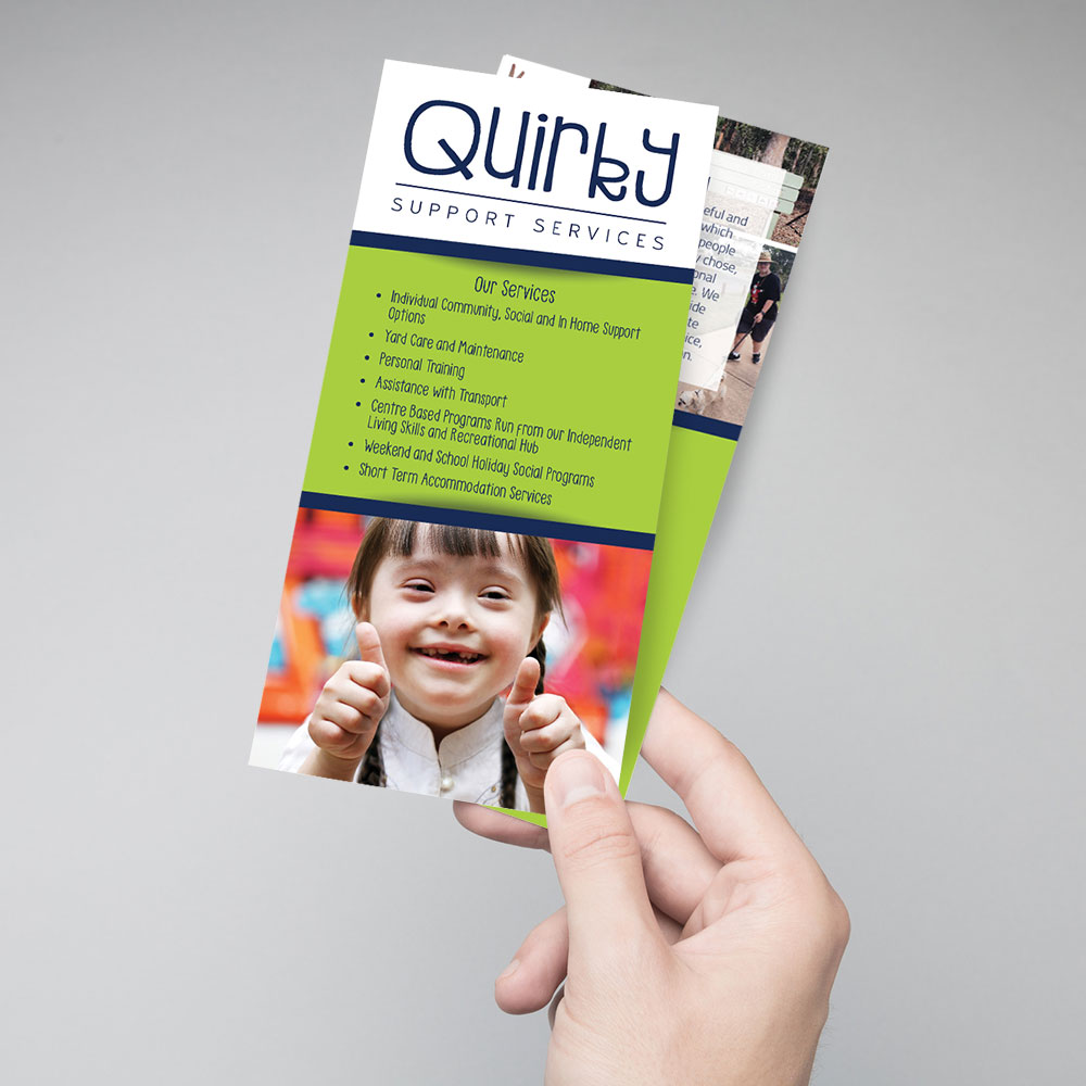 Quirky Support Services DL Flyer