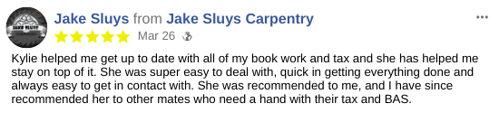 Bookkeeping Virtual Assistant Testimonial - Jake Sluys