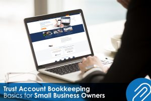 trust account bookkeeping man using leap software