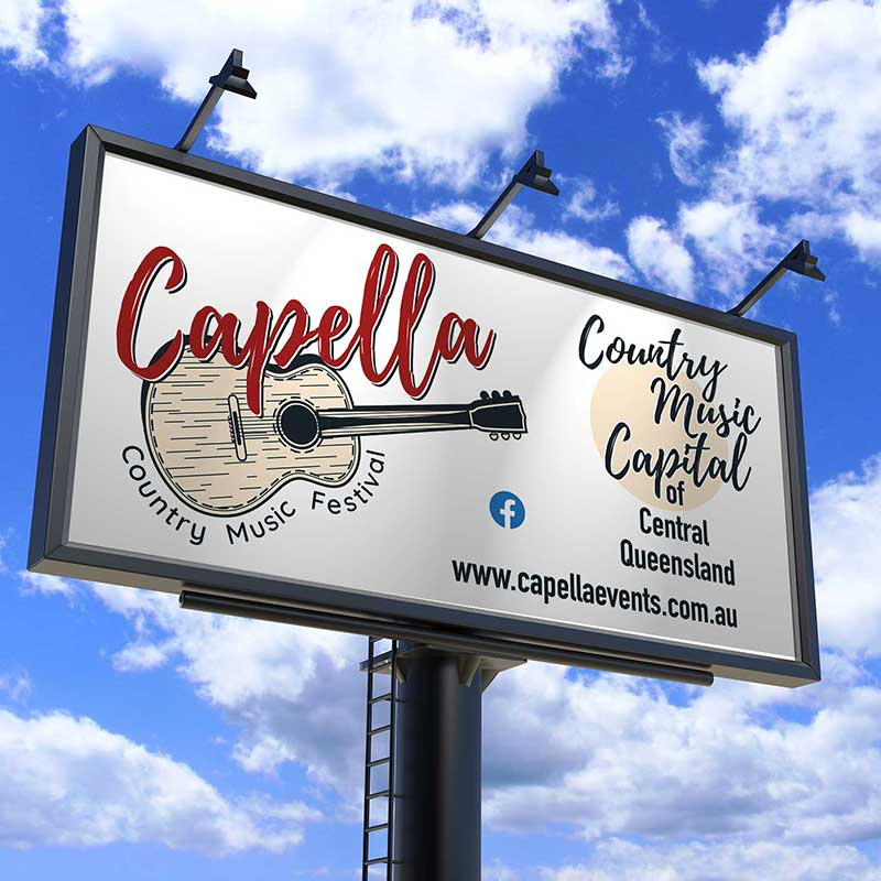 Capella Billboard Graphic Design