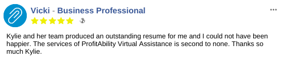 CV Testimonial from Business Professional