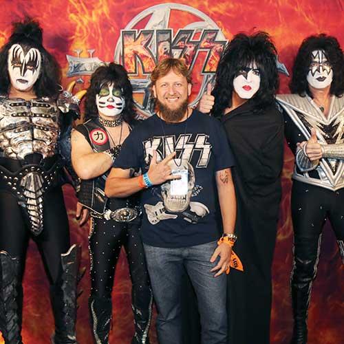 Edgar Larsen with Kiss