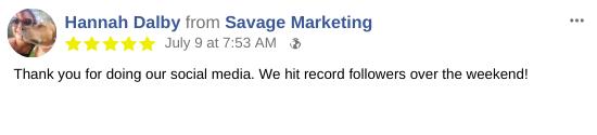 Social Media Posting for Small Business Testimonial