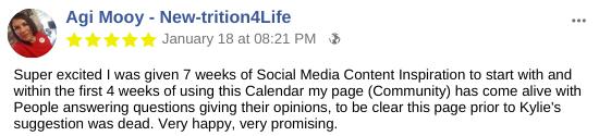 Social media testimonial PVA