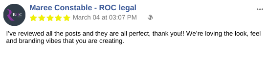 PVA Social media testimonial ROC legal