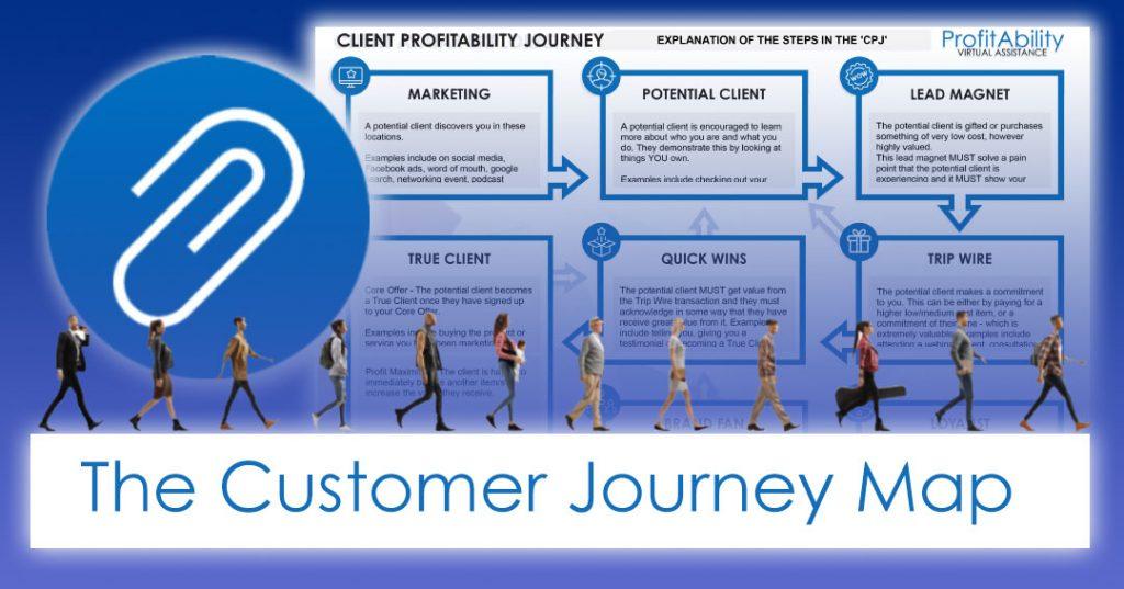 The profitability Virtual Assistance customer journey map